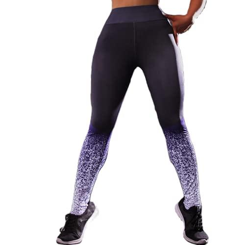 QTJY Pantalones de Yoga para Mujer con Levantamiento de Cadera y Secado rápido, Leggings de Gimnasio elásticos de Cintura Alta, Pantalones para Correr, Ejercicio, Push-up, CS