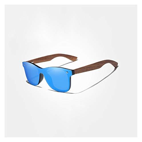 occhiali da sole uomo kingseven Glqwe Occhiali da Sole da Uomo Donna polarizzata a Mano Colorata (Color : Blue