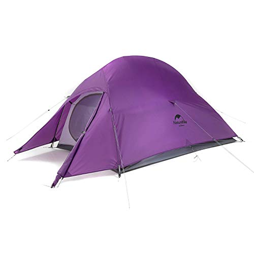 Naturehike Cloud Up 1 2 3 Person Lightweight Backpacking Waterproof Tent Easy Setup - 4 Season for Outdoor Camping,Backpacking,Hiking,Mountaineering Travel