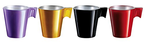 Luminance 8010153 Flashy Espresso, 4 Tassen bunt, 29 x 6 x 7 cm