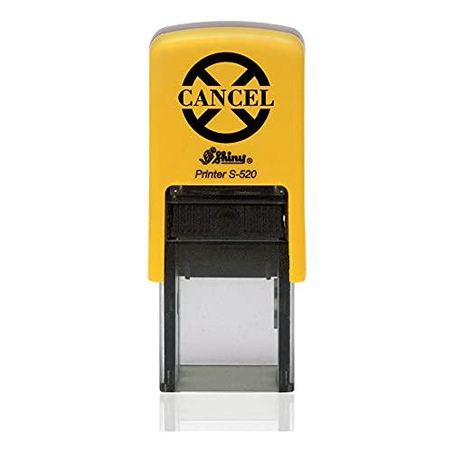 IMPACT2PRINT Shiny 520 CANCEL Texto Auto entintado Redondo Mini Sello de goma Sellos comerciales personalizados Oficina Papelería