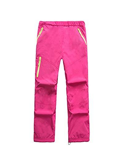 Pantalón De Esquí Pantalon Impermeable Trekking Niño Softshell Pantalones De Montaña Deporte De Senderismo Niña Pantalones De Escalada Rose S