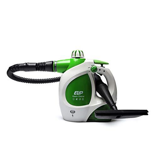 Autoclave limpiador de vapor de mano de alta presión química libre vapor con accesorios de 9 piezas para eliminación de manchas, alfombras, cortinas, asientos de coche, cocina, baño, superficies