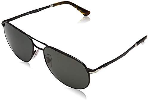 Persol 107858 Gafas de sol, Wrap, Polarizadas, 60, Demi Gloss Black