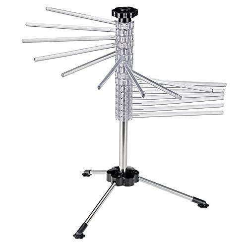 Westmark Supporto stendipasta, con 16 bracci, pieghevole, plastica/acciaio inox, altezza: 47 cm, Pasta Tree, argento/trasparente, 61332260