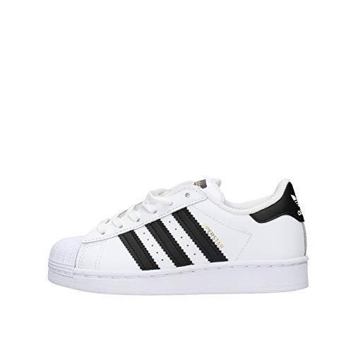 adidas Superstar Sneaker, Footwear White/Core Black/Footwear White, 28 EU