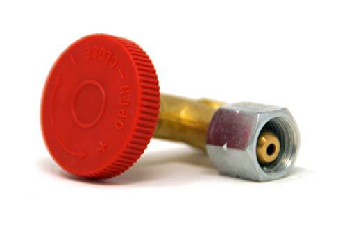 Gas Regulierventil 90° Gasregelventil zur genauen Regulierung der Gasmenge Gasmengenventil für Gasgrill, Camping, Heizstrahler und andere Gasgeräte