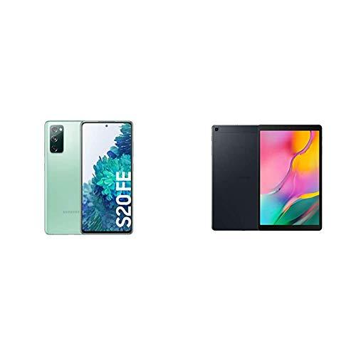 Samsung Galaxy S20 FE 256GB, Color Verde [Versión española] + Samsung Tablet de 10.1' FullHD (WiFi, Procesador Octa-Core, 2 GB de RAM, 32 GB de Almacenamiento, Android actualizable) Negro