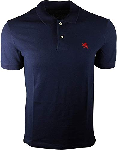Express Mens Modern Fit Pique Polo Shirt (Medium, Navy (Red Lion))