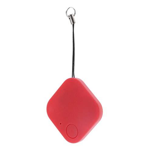 Baoblaze Localizador de GPS para Mascotas, Perros Y Niños, Buscador de Llaves Cuadradas con Bluetooth - Rojo