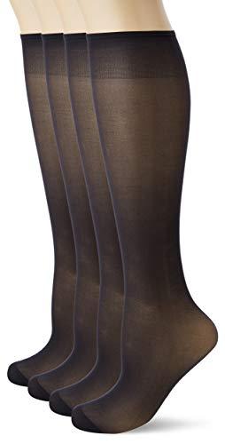 Dim Sublim Calcetines, 15 DEN, Negro (Noir 0hz), Talla única (Talla del fabricante: 35/41) (Pack de 4) para Mujer