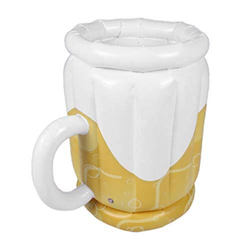 TOYANDONA 1 Stück Aufblasbarer Bierkrug Kühler Partyzubehör für Erwachsene Sommerparty Dekoration Aufblasbarer Kühler für Garten Garten Pool Party im Freien