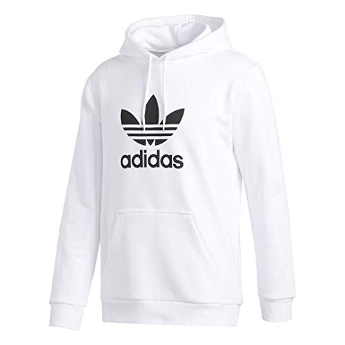 adidas Originals Men's Trefoil-Hoodie, white, Medium