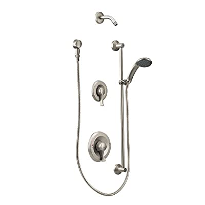 Moen T8342NHCBN Commercial M-DURA PosiTemp Shower Trim Kit without Showerhead, Classic Brushed Nickel