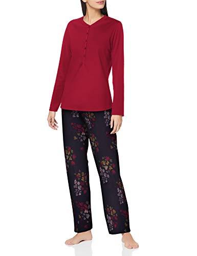 CALIDA Damen Midnight Flowers Pyjamaset, Dark Lapis Blue, XS