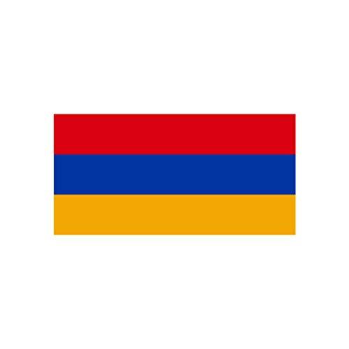inking house Set mit 2 x Armenien-Flagge zum Aufbügeln, Siebdruck, maschinenwaschbar, Transferfolie mit armenischer Flagge