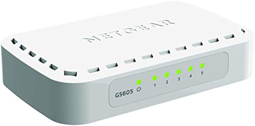 Netgear GS605-400PES 5 Port Gigabit Ethernet Unmanaged Switch