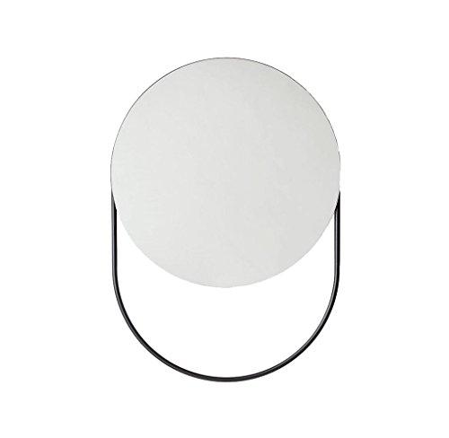 Decorative mirror-QFF Miroir de salle de bains, porte-serviettes mural Montage Miroir de maquillage Miroir Hôtel chambre murale Creative Miroir de maquillage multifonction Miroir (Size : 40 * 60CM)
