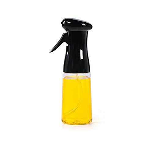 MUFENA Rociador de aceite de cocina, rociador de aceite de oliva de cocina 210 ml, spray de la parrilla de la parrilla de la parrilla de la parrilla, negro