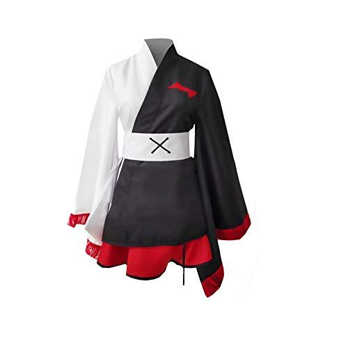 JinYiny Danganronpa Monokuma Cosplay Kostüm Japanisches traditionelles Kimono Uniformkleid Anzüge Halloween Karneval Cosplay Kostüm