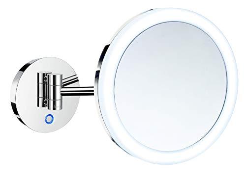 Smedbo Kosmetikspiegel FK485E Duallight Batteriebetrieb 5 Fach Vergrößerung