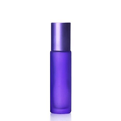 Junior one grocery 1 / 5PCS 10ml Portátil Esmerilado Colorido Rodillo de Vidrio Grueso Aceite Esencial Botellas de Perfume Botella de Rollerball Recargable de Viaje, Fácil de Llevar-1pcs 10ml, Morado