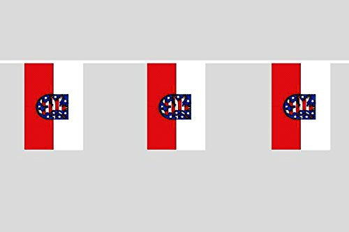 U24 Flaggenkette Thüringen 10,40 m Fahne Flagge Fahnenkette