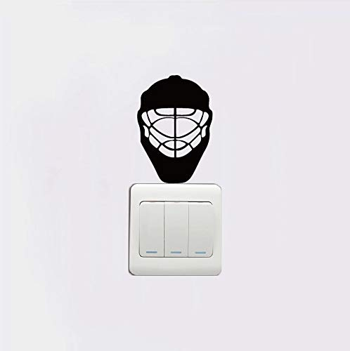 PANDABOOM Eishockey Helm Schalter Aufkleber Silhouette Wandaufkleber Vinyl Dekoration Tapete Aufkleber Wandbilder