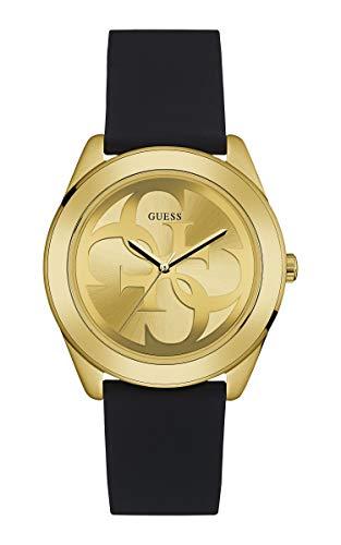 Guess Damen Analog Quarz Uhr mit Silikon Armband W0911L3
