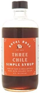 ROYAL ROSE Three Chile Simple Syrup, 8 Ounce