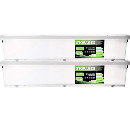 Boîte de Rangement/Plastique PP de qualité/avec Couvercle scellé Grand Grand et Fort empilable Fort Boucles de poignée de conteneur Snug Fit/humidité et poussière/Maison / extérieur