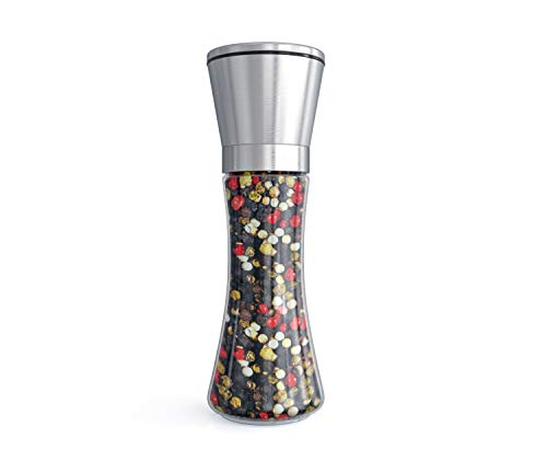 Fsdifly Original Stainless Steel Salt or Pepper Grinder - Tall Salt or Pepper Shakers with Adjustable Coarseness - Salt Grinders or Pepper Mill Shaker (Single Package) (B)