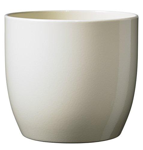 soendgen cerámica Flores Maceta, Basel Full Color, Arcilla, Vainilla, 21 x 21 x 20 cm