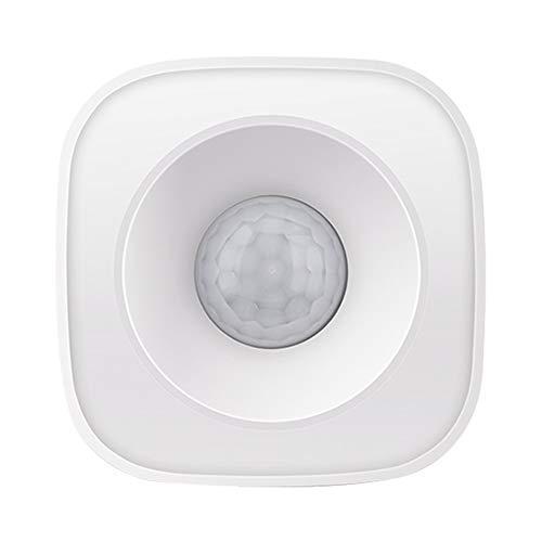 RuleaxAsi Tuya Alimentado por sensor de movimento ZigBee PIR Detector infravermelho passivo sem fio Ângulo de detecção de 360 ° Segurança Sensor de alarme anti-roubo Tuya/SmartLife APP Control