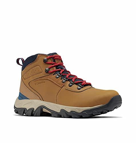 Columbia Men's Newton Ridge Plus II Waterproof Hiking Boot Shoe, Light Brown/Red Velvet,