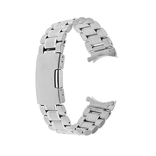 KESHIKUI New MEI Bracelet en Acier Inoxydable Bracelet Bracelet Bracelet Entrée Courbe Remplacer (Size : 24mm)