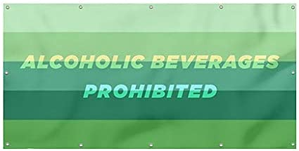 Modern Gradient Heavy-Duty Outdoor Vinyl Banner Alcoholic Beverages Prohibited CGSignLab 8x4