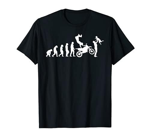 Hombre Biker Evolution Papá motociclista Motocicleta Motocross Camiseta
