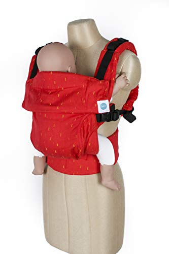Soul Carnival AseemA Award Winning Ergonomic Cotton Baby Carrier for Newborn to Toddler (Red, 0-4 Years)