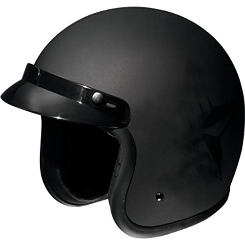 Fulmer, AF-V2X24015, Adult Open Face Motorcycle Helmet - DOT Approved - Flat Black, L