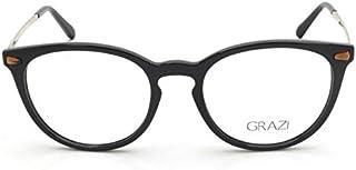 b0f914a390216 Óculos de Grau Grazi Massafera GZ3048B F706 Preto Com Cristais Da SWAROVSKI  Lente Tam 50