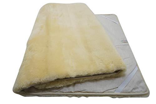 MILABERT Genuine Medical Rectangular Sheepskin Bed pad Underlay Mattress - Pressure Relief - Premium Quality
