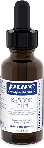 Pure Encapsulations - B12 5000 Liquid - 5,000 mcg Vitamin B12 (Methylcobalamin) Liquid for Nerve Health and Cognitive Function - 1 fl. oz.