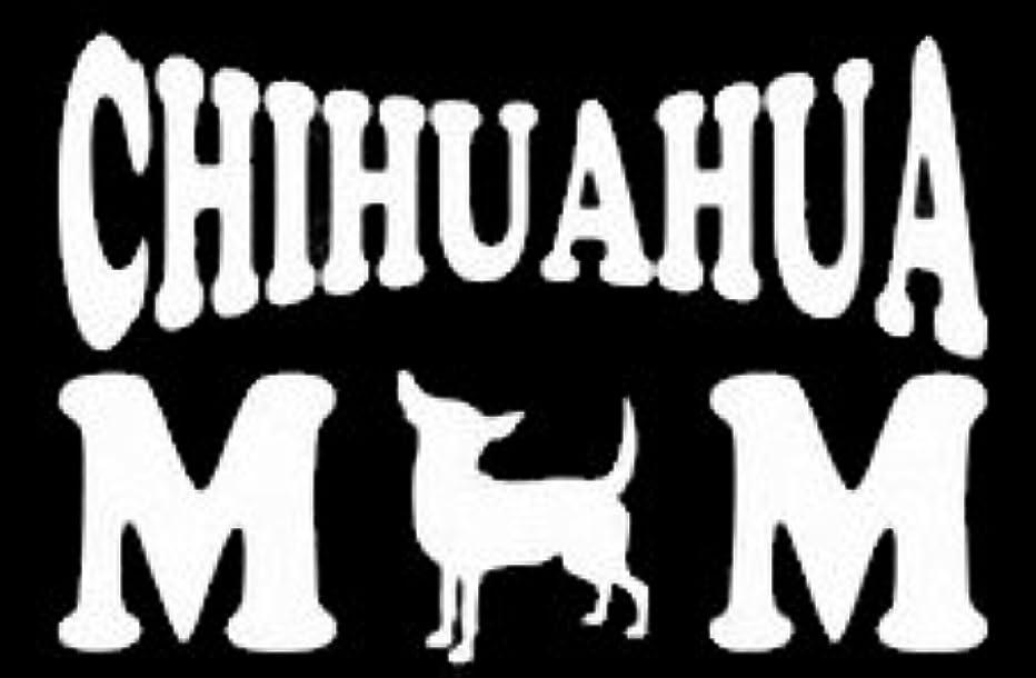Chihuahua Mom Decal Vinyl Sticker|Cars Trucks Vans Walls Laptop| White |5.5 x 3 in|LLI391