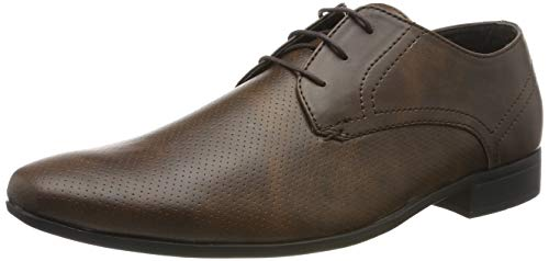 Burton Menswear London Herren Rees Derbys, Braun (Tan 160), 41 EU