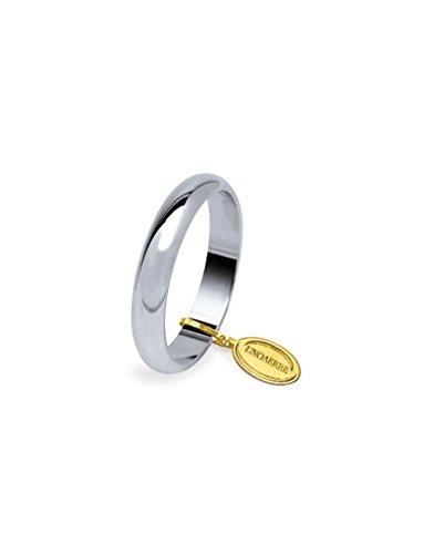 Fede Nuziale Unoaerre Classica da 7 grammi oro bianco 18kt