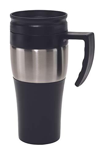TOPICO Hot drink - Vaso térmico, plástico y acero inoxidable, 400 ml, 1 unidad