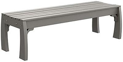 Amazon Com Nuevo Nuevo Amici Indoor Bench Silver Metal