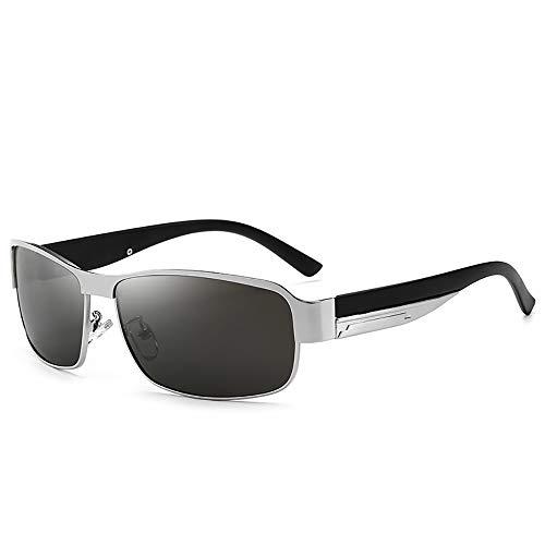 Baiyi gepolariseerde retro-zonnebril voor heren, autorijden van zonnebrillen, metalen frame, bescherming tegen verblinding, uv-bescherming, geschikt voor autorijden, golf en outdoor-activiteiten.