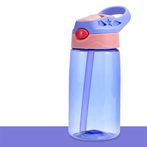 ERTERT 480ml 4 Colores Botellas de Agua Taza de alimentación de Paja (Capacity : 480ml, Color : Purple)